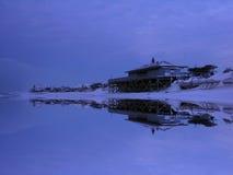 海滩pavillon冬天 库存图片