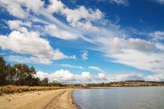 海滩penna塔斯马尼亚岛 免版税库存照片