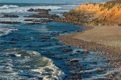 海滩pescadero 库存照片