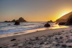 海滩pfeiffer 库存照片