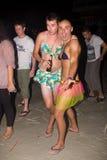 海滩phangan满月的当事人 免版税库存图片
