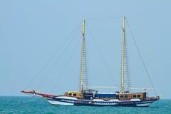 海滩phattaya风船 免版税库存照片