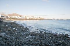 海滩Playa Blanca 免版税库存照片