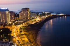 海滩Puerto de la Cruz,特内里费岛,西班牙 图库摄影
