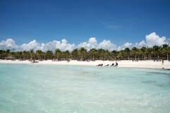 海滩rayan里维埃拉 免版税图库摄影