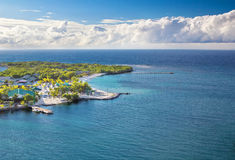 海滩roatan洪都拉斯的isla 免版税图库摄影