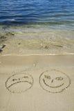 海滩smilies 库存照片