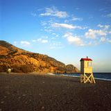 海滩sougia 图库摄影