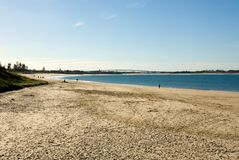 海滩stockton 图库摄影