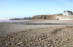 海滩stoney 免版税库存图片