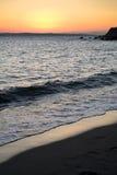 海滩surise 免版税库存照片