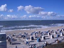 海滩sylt 免版税库存图片
