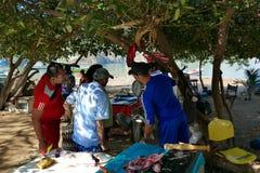 海滩taganga,圣塔迈尔塔 库存图片