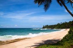 海滩tangalle 库存照片