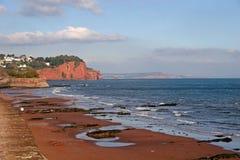 海滩teignmouth 免版税库存图片