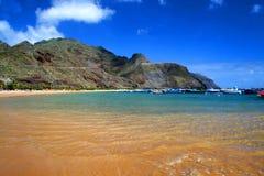 海滩tenerife 库存照片