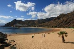 海滩tenerife 免版税图库摄影