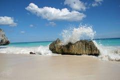 海滩tulum 免版税库存照片