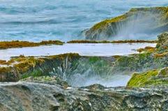 海滩waianae 库存照片