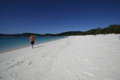 海滩whitehaven 图库摄影