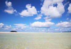 海滩whitehaven 免版税图库摄影