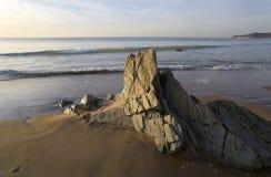 海滩woolacombe 库存照片