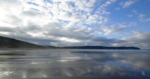 海滩woolacombe 库存图片