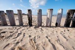 海滩zeeland 图库摄影