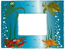 海照片框架 图库摄影