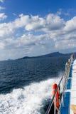 海照片从小船的 库存照片