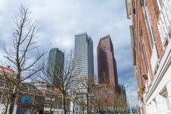 海牙现代城市地平线建筑学  免版税库存图片