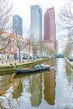 海牙现代城市地平线建筑学  库存图片