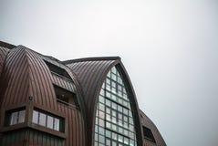 海牙,荷兰- 10月18 :现代海牙小室Haag市中心建筑学  荷兰 免版税库存照片