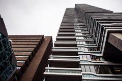 海牙,荷兰- 10月18 :现代海牙小室Haag市中心建筑学  荷兰 库存照片