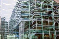 海牙,荷兰- 10月18 :现代海牙小室Haag市中心建筑学  荷兰 图库摄影