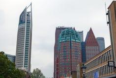 海牙,荷兰- 10月18 :现代海牙小室Haag市中心建筑学  荷兰 免版税库存图片