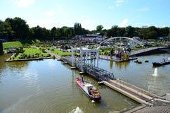 海牙,荷兰-第14 2016年8月:Madurodam,荷兰微型公园和旅游胜地在海牙,荷兰 库存照片