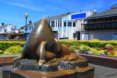 海狮雕塑 库存照片