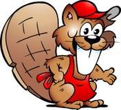 海狸服务向量的图画客户 免版税图库摄影