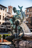 海王星喷泉在佛罗伦萨,意大利 免版税库存图片