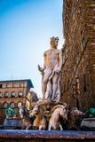 海王星喷泉在佛罗伦萨,意大利 免版税库存照片