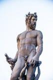 海王星喷泉在佛罗伦萨,意大利 库存照片