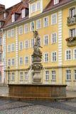 海王星喷泉在Gorlitz 德国 免版税库存照片