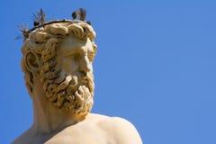 海王星喷泉的细节在佛罗伦萨 图库摄影