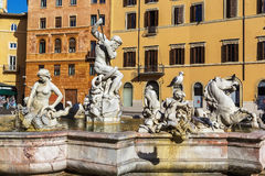 海王星喷泉,罗马 库存图片