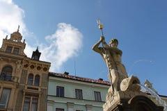 海王星喷泉, Liberec 免版税图库摄影