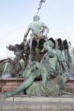 海王星喷泉Begas (1891), Alexanderplatz广场,柏林 免版税库存照片