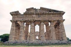 海王星寺庙, Paestum,意大利 库存图片