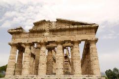海王星寺庙, Paestum,意大利 免版税库存照片