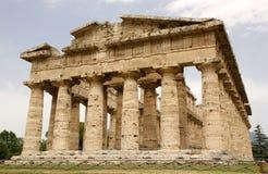 海王星寺庙, Paestum,意大利 库存照片